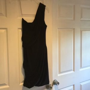 Soprano black one shoulder dress